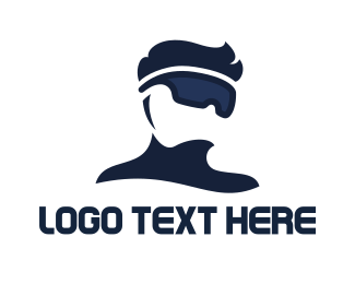 Entertainment - Modern VR Pro logo design