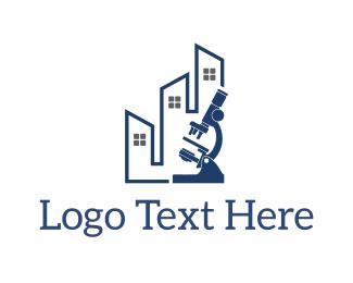 Microscope - Microscope Building logo design