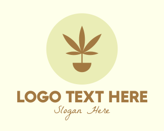 Medical Drug - Cannabis Marijuana Plant logo design
