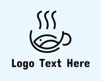 Seafood Restaurant - Seafood Fish Soup Bowl logo design