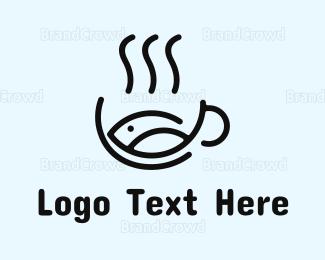 Bowl - Fish Soup logo design