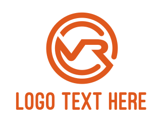 5d - Orange Modern VR logo design
