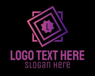 Construction Firm - Square Geometric Letter  logo design