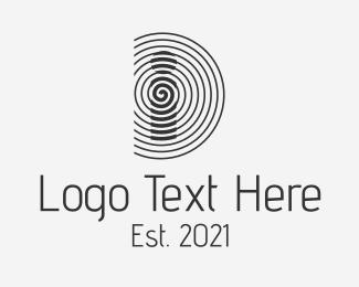 Secure - Security Company Letter D logo design