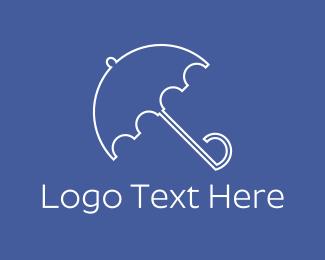 Rain - Blue Umbrella logo design