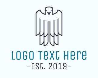 Patriot - Minimalist Bird Outline logo design