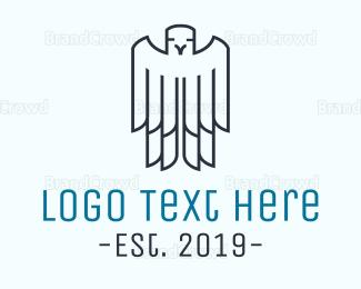 Bird - Minimalist Bird Outline logo design