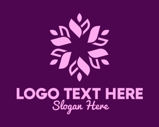 Scented Candle - Purple Floral Wreath logo design