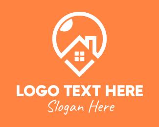 Location Pin - Home Location Pin logo design
