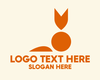 Shapes - Simple Abstract Fox  logo design