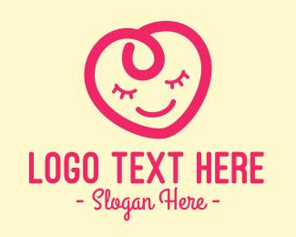 Baby - Baby Kid Heart logo design