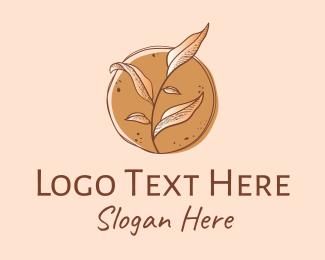 Leaves - Vintage Herb Leaves logo design