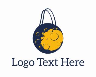 Online Shopping - Moon Shopping logo design