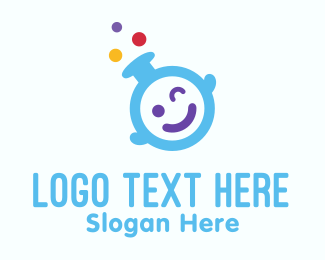 Kiddo - Cute Baby Laboratory logo design