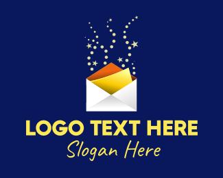 Events - Sparkle Invite Envelope  logo design