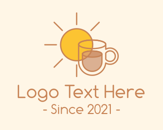 Cafe Americano - Breakfast Coffee Cafe  logo design