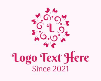 Theraphy - Pink Flower Lettermark  logo design