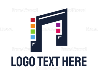 Frequency - Square Colorful Note logo design
