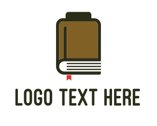 Bookstore - Book Battery logo design