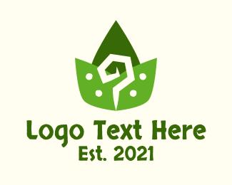 Question Mark - Aztec Leaves Pattern logo design