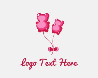 Candy Bear Balloon Logo
