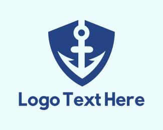 Anchor - Anchor Shield logo design