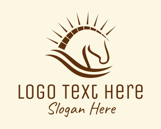 Ranch - Trojan Horse logo design