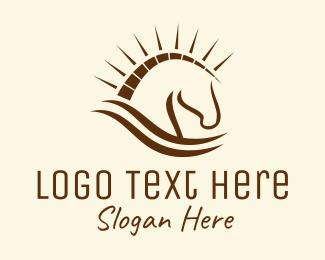 Equine - Trojan Horse logo design