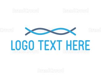 Chain - Blue Fibre logo design