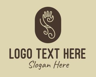 Hulu - Tribal Letter S Hand logo design