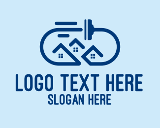 Cleaning - House Cleaning Squeegee logo design