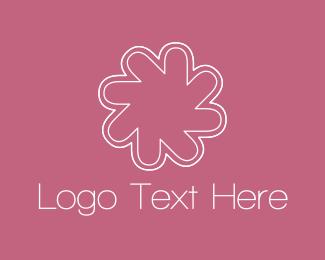 Asterisk - Pink Asterisk Flower logo design