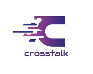 Random Digital Letter C logo design