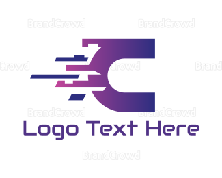 Cloud Drive - Digital Letter C logo design