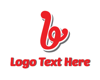 Burger Bar - Red Script B logo design