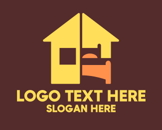 Motel - Motel Bed logo design