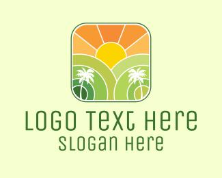 Resort - Sunshine Beach Resort logo design