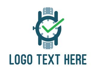 Blue Wristwatch logo design