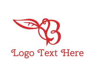 Floral Letter B Logo