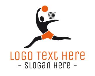 Mvp - Basketball Player logo design