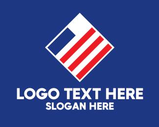 Stripes - Minimal American Stripes logo design