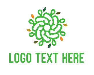 Spiral - Spiral Green Flower logo design