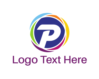 P - Colorful P Circle logo design