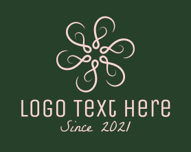 Beauty - Elegant Pink Wreath logo design