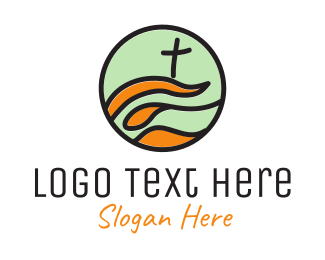 Baptist - Modern Church logo design
