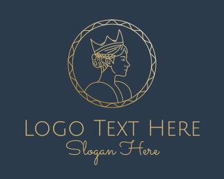 Coin - Golden Queen Coin logo design