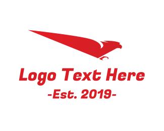 Sporty - Fast Red Bird logo design
