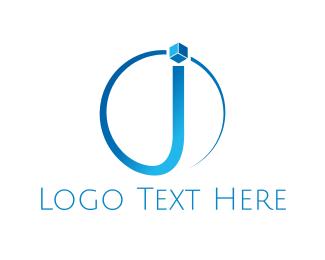 Letter J - Blue Letter J logo design