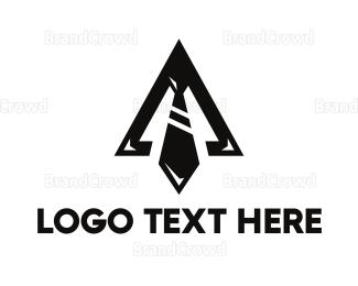 Agent - Black Triangle Tie logo design