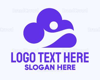 Human - Human & Cloud logo design